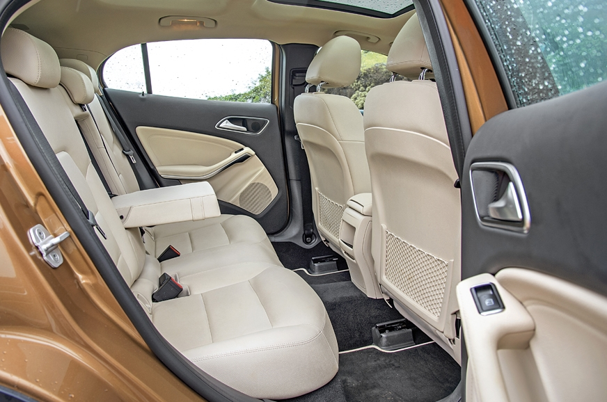 The GLA's rear is more spacious but you sit low.