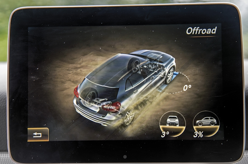 Off-road mode available to tackle rough terrain.