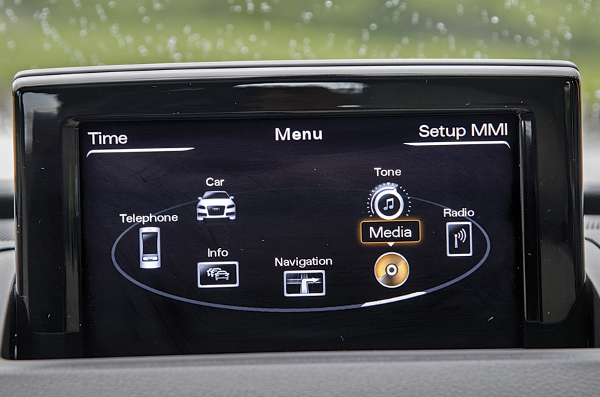 Audi MMI system is user friendly, but graphics look  old ...