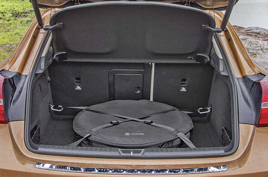 GLA's spare wheel takes up almost half the space.