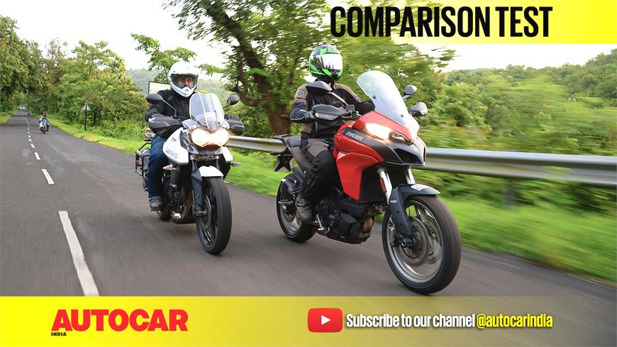Ducati Multistrada 950 vs Triumph Tiger XRx video