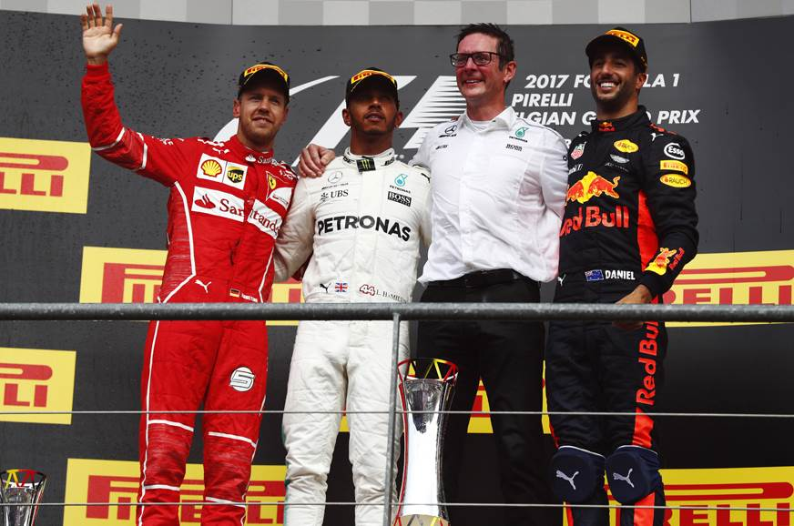 Hamilton beats Vettel to win Belgian GP