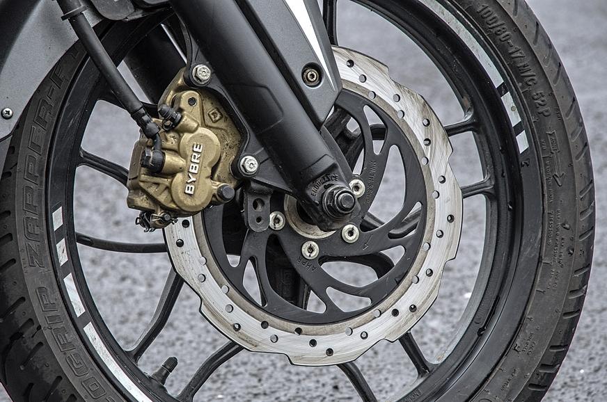 Pulsar's brakes offer best bite and feel.