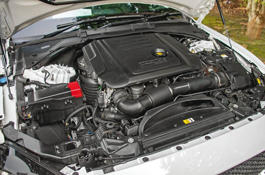 Jaguar's 2.0-litre diesel performs admirably well.