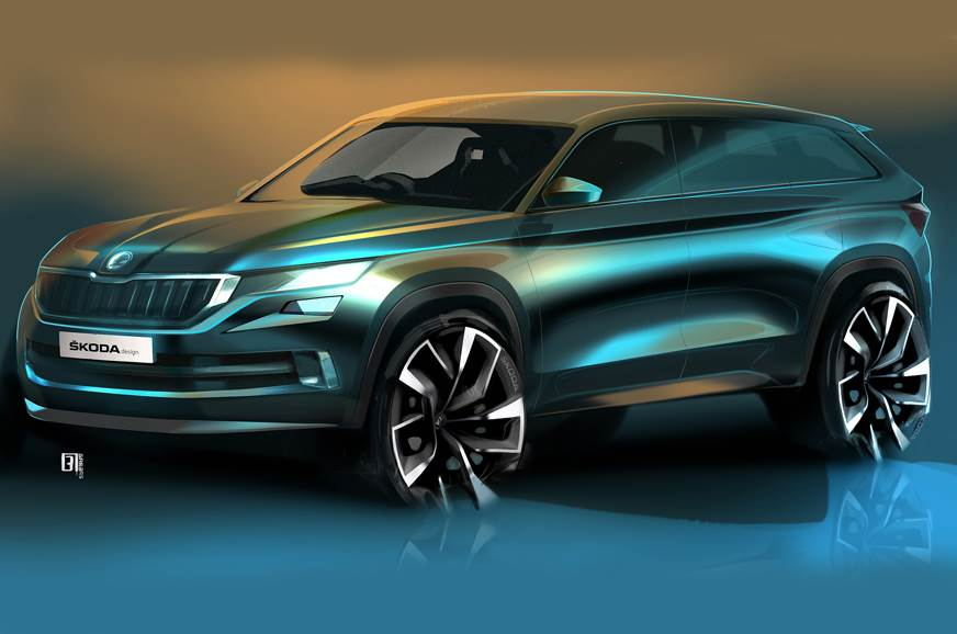 Skoda VisionS concept sketch shown for representational purpose