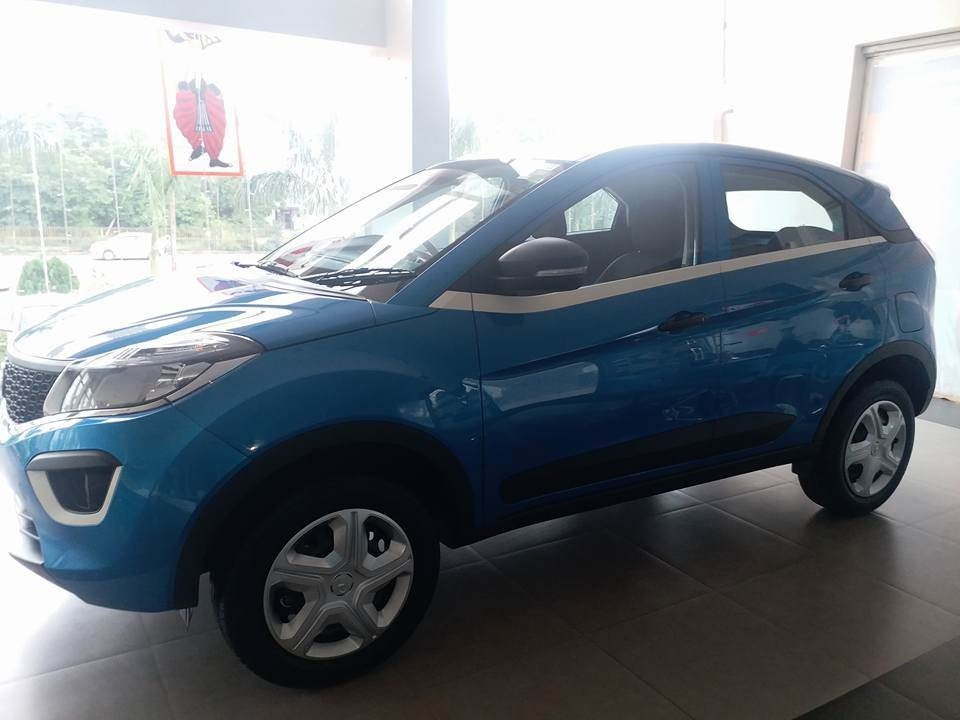 Goodyear Car >> Tata Nexon XM, XE and XT seen at a dealership, expected ...