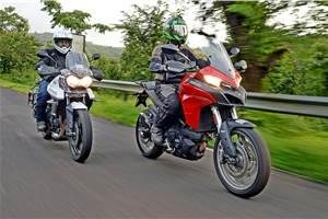 Triumph Tiger 800 XRx vs Ducati Multistrada 950 comparison