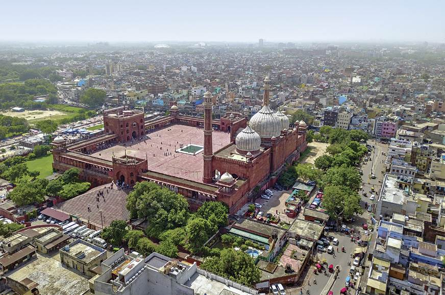 Old Delhi, dominated by the vast Jama Masjid
