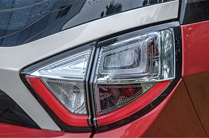 Sharply cut tail-lamps with their LED elements look reall...