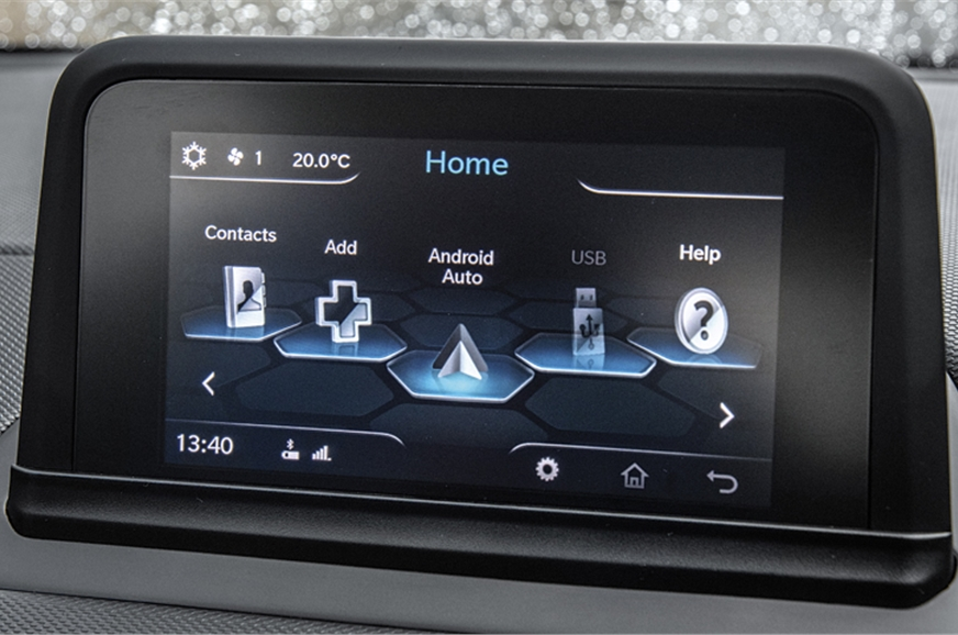 The high-set 6.5-inch touchscreen is easy to read but tou...