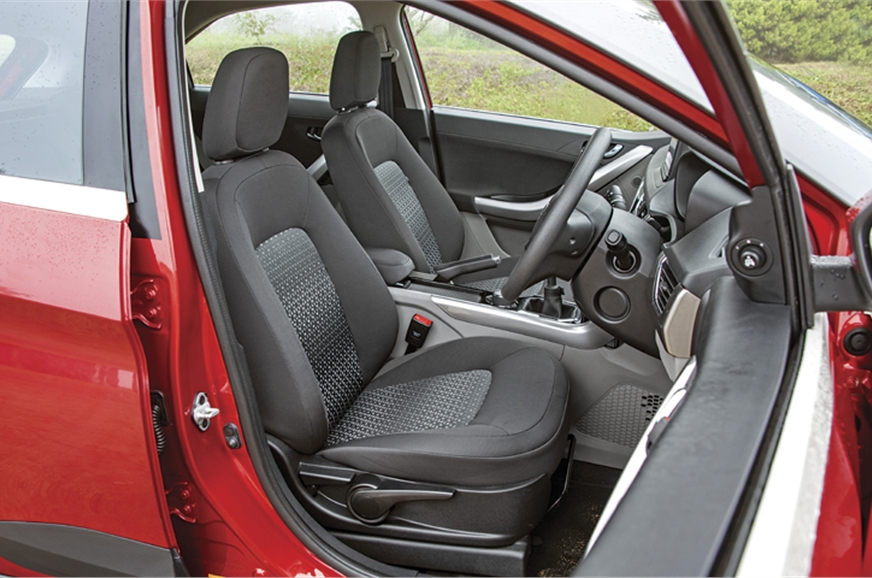 Front seats are large and well shaped but lumbar support ...