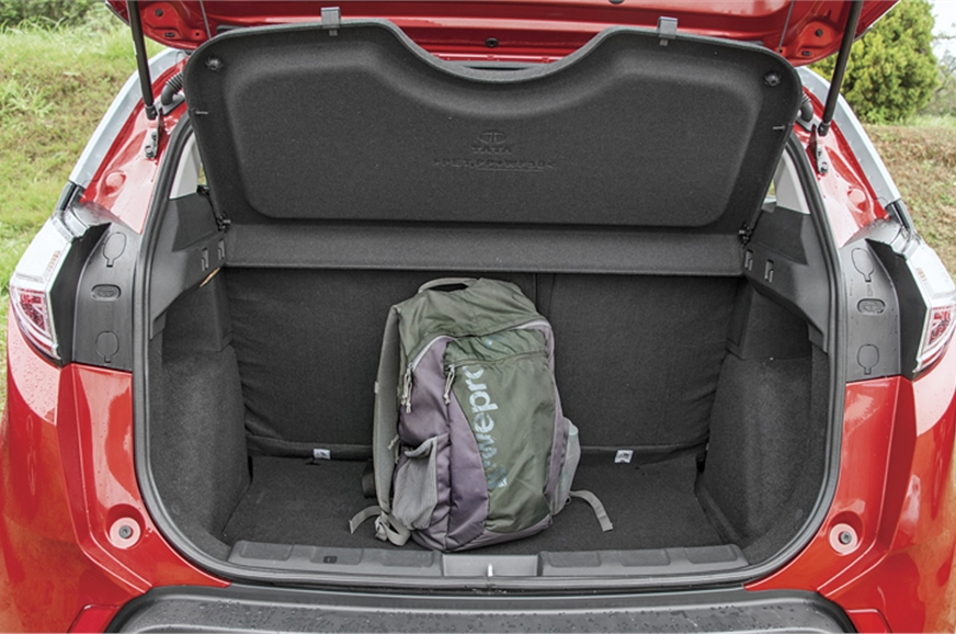 Large 350-litre boot and split/fold rear seats give Nexon...