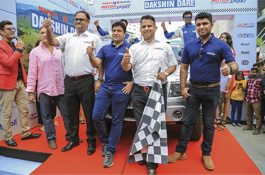 2017 Maruti Suzuki Dakshin Dare being flagged off from Be...
