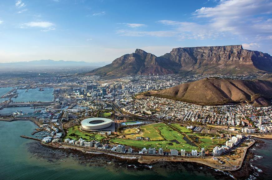 Lots of cities look great from the sky but Cape Town just...