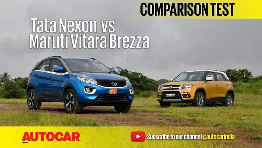 2017 Tata Nexon vs Maruti Vitara Brezza comparison video