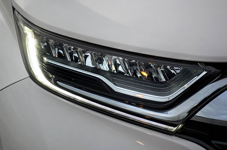 LED and chrome highlights brighten up headlights.