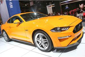 Ford Mustang facelift displayed at Frankfurt motor show