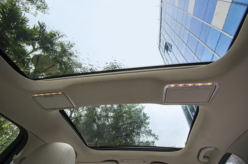 Double sunroof gives cabin airy ambience.
