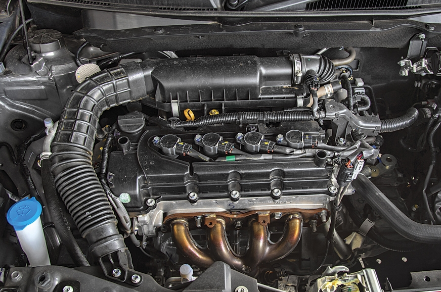 The 1.2-litre engine is peppy when you're going fast; tra...