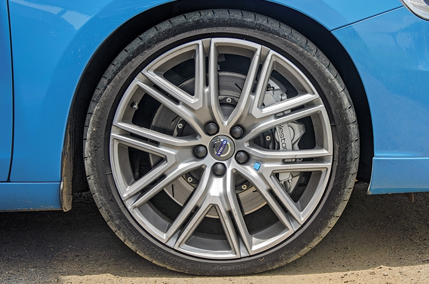 20-inch wheels give the Volvo S60 Polestar a purposeful s...