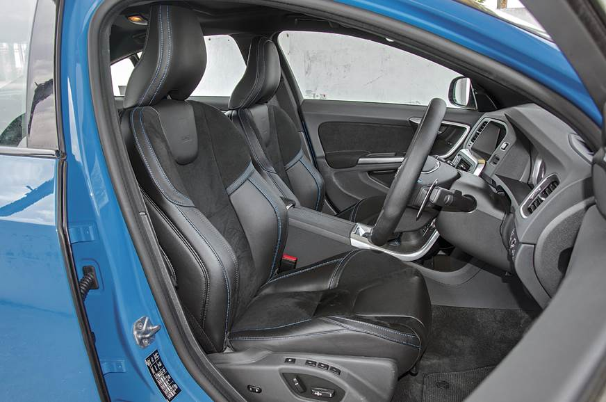 The Volvo S60 Polestar's large seats are comfy and suppor...