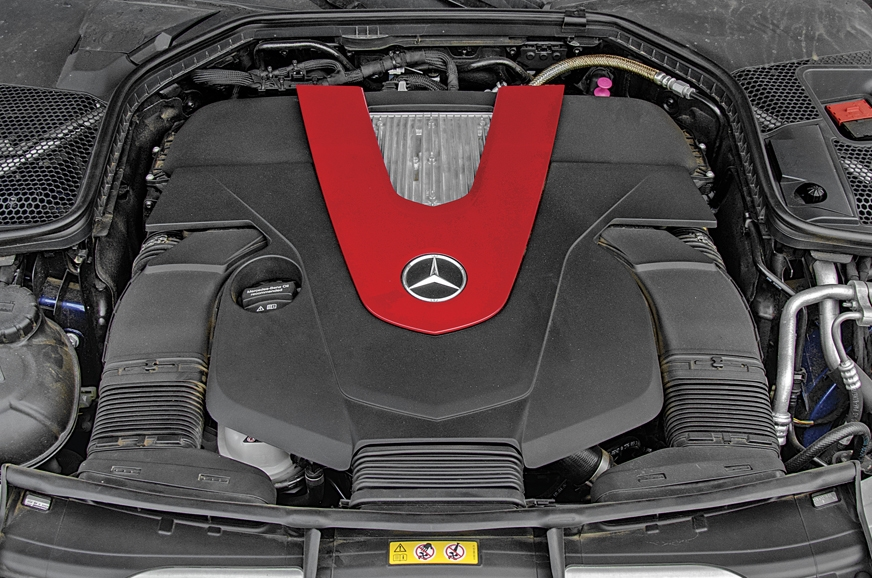 Mercedes-AMG C 43's 3.0 V6 is silky smooth and effortless.