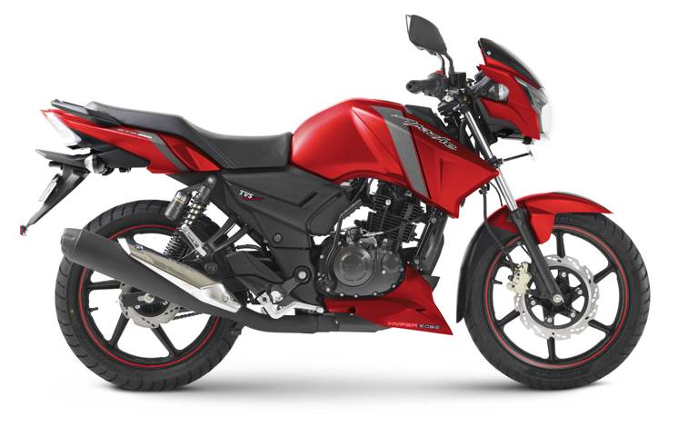 Tvs Apache Rtr 160 Rtr 180 Matte Red Introduced At Rs