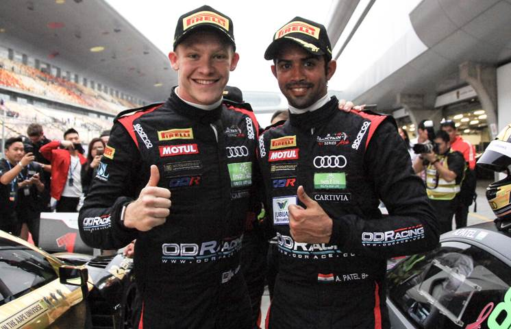 Blancpain GT Asia: Patel and Gilbert bag double podium at Shanghai