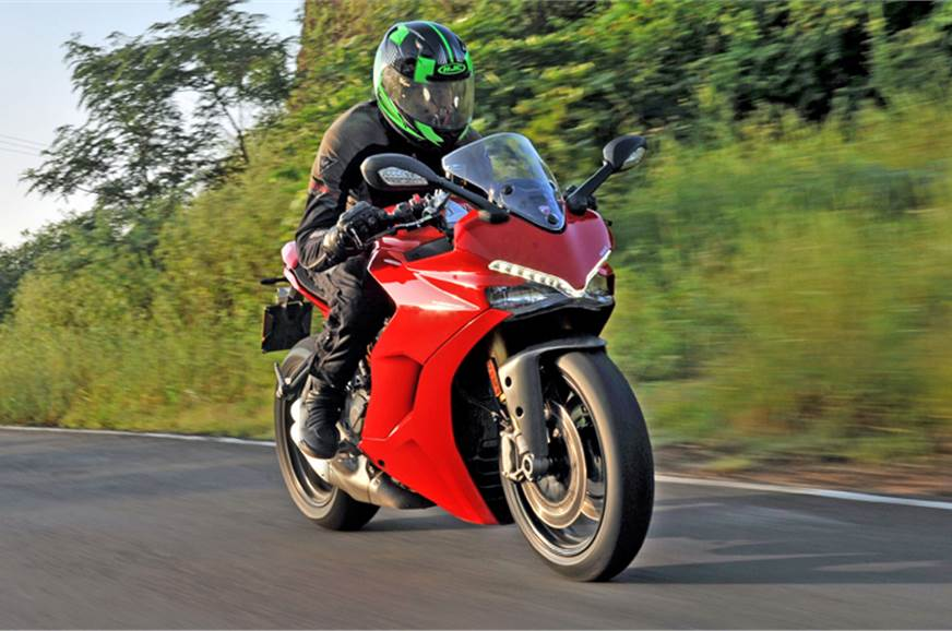 The SuperSport S features a handsome, Panigale inspired f...