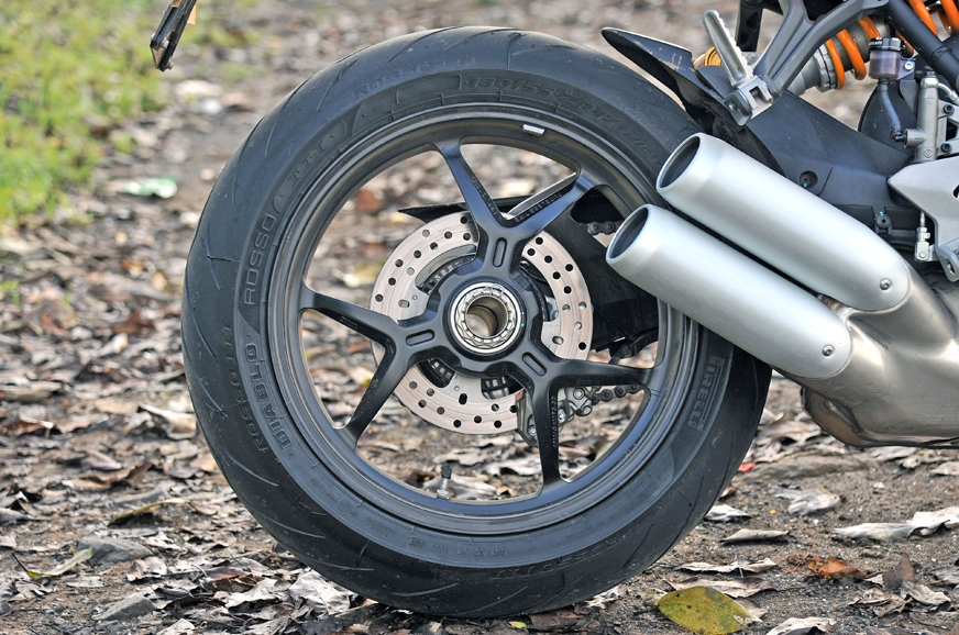 Single-sided swingarm is a feature usually seen on the mo...