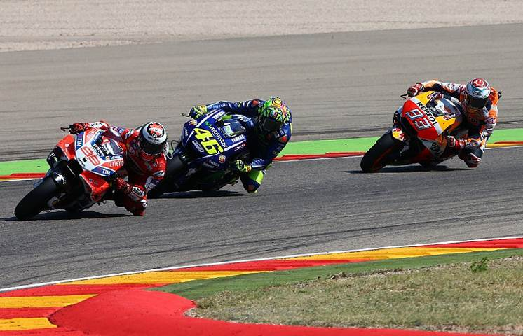 Injured Rossi's Aragon GP race hailed by rivals