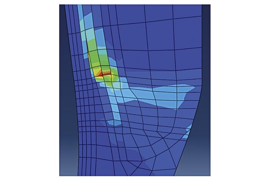 Measuring Strain Energy Density (SENER) at belt end durin...