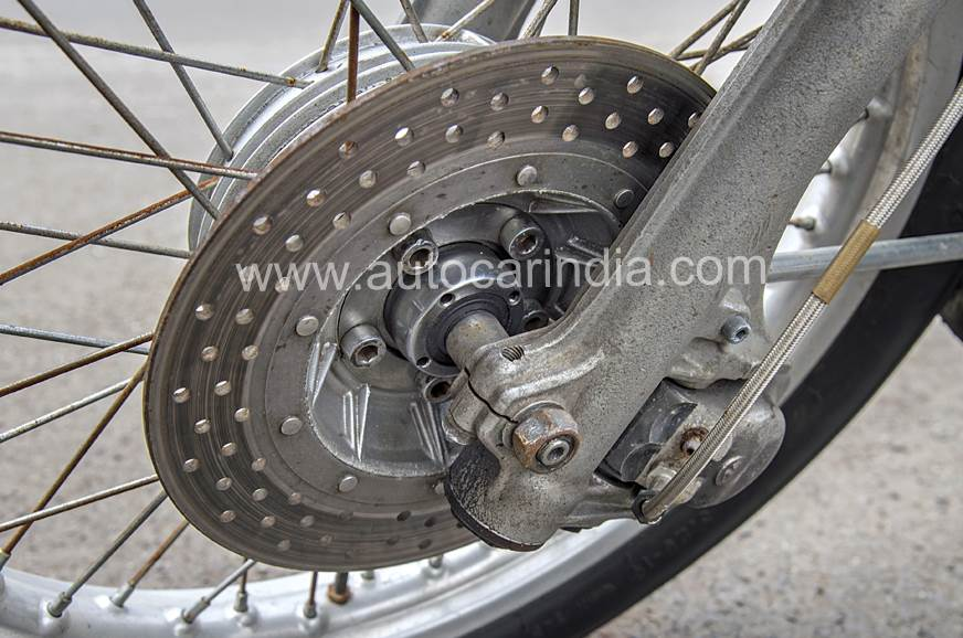 The 200mm disc brake at the front sets the /6 series apart.