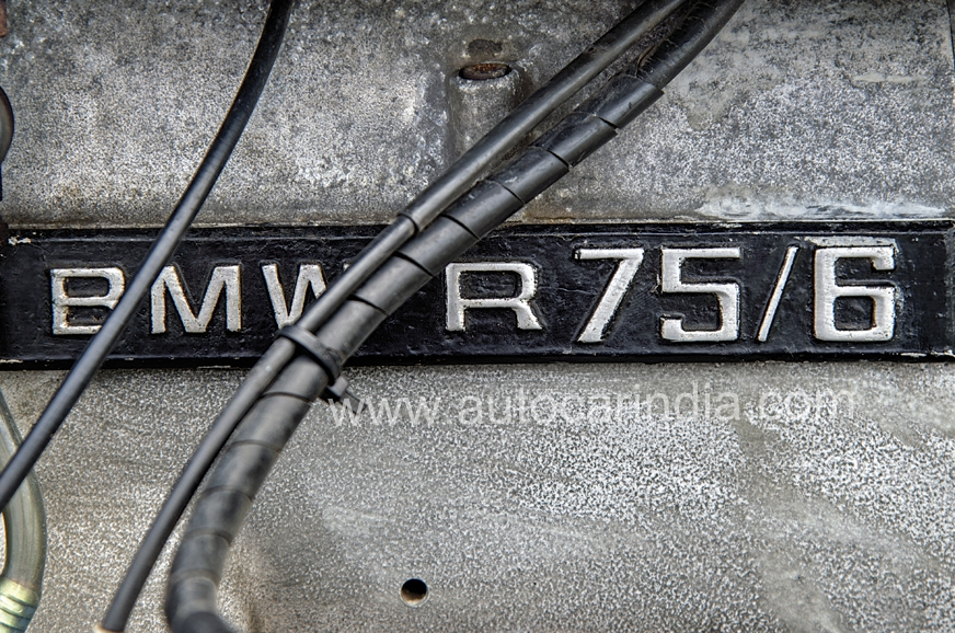 Original BMW R75/6 badging sourced from Germany.