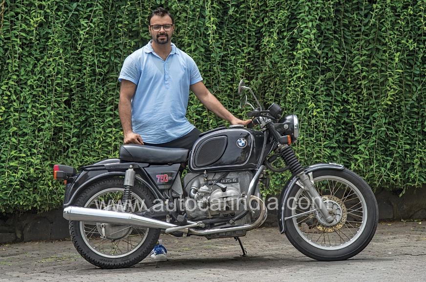Purazar Fouzdar, the proud owner of this brilliant machine.