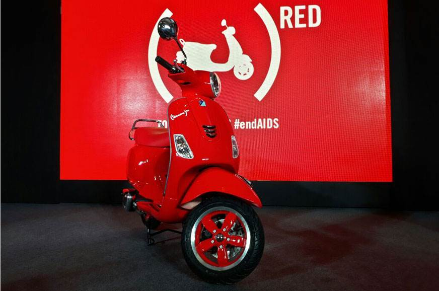 2017 Vespa Red launched at Rs 87,009