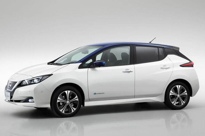 The standard second-gen Nissan Leaf that is coming to India.