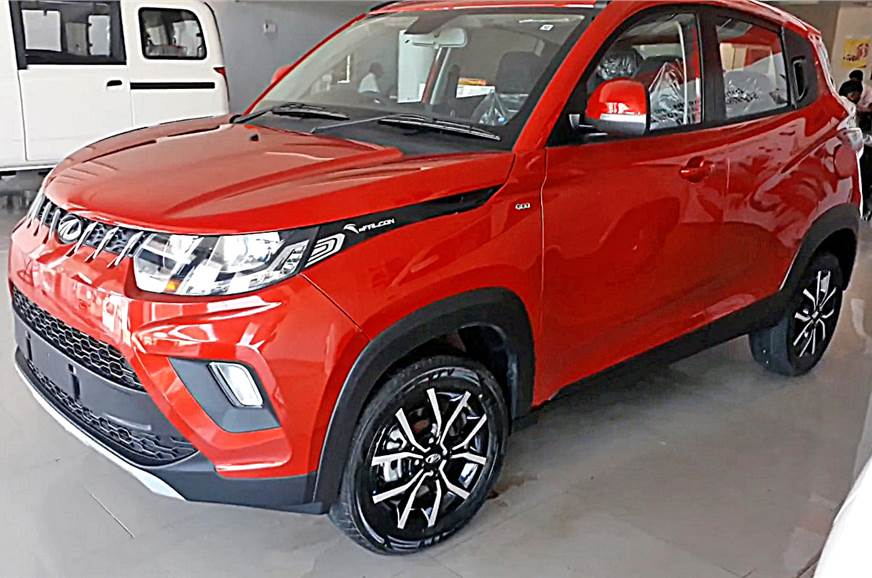 Mahindra KUV100 NXT has been spied at a dealership in Mad...
