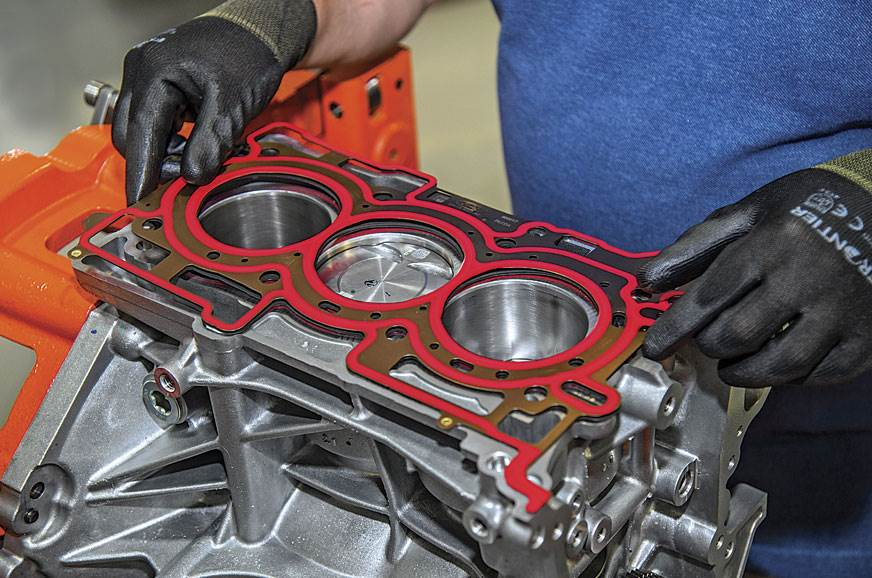 GASKET Aligning the gasket perfectly before you drop the ...