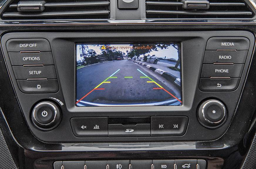 VIEW OUT BACK: Reverse camera is handy, but resolution co...