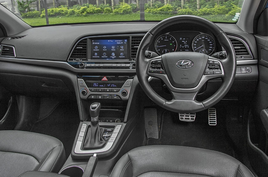 The construction of the Hyundai Elantra's interiors is ro...