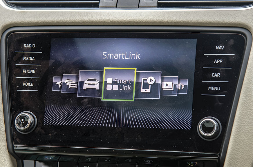 The new 8.0-inch touchscreen on the Octavia is responsive.