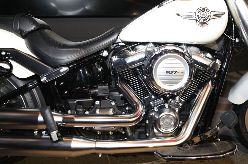 The Fat Boy also has the same 1745cc engine.