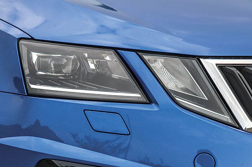 LED headlamps auto adjust beams to suit speed, steering a...