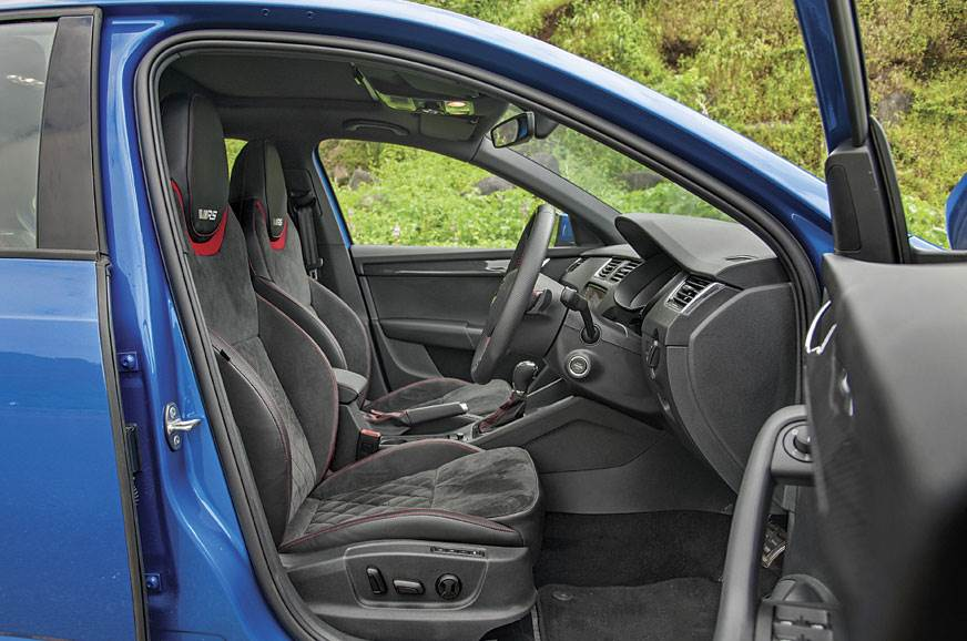 Superbly cushioned Alcantara front seats will be comfy fo...