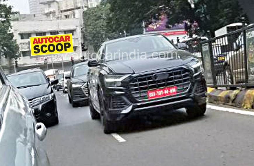 Audi Q8 spied in India for the first time - Autocar India