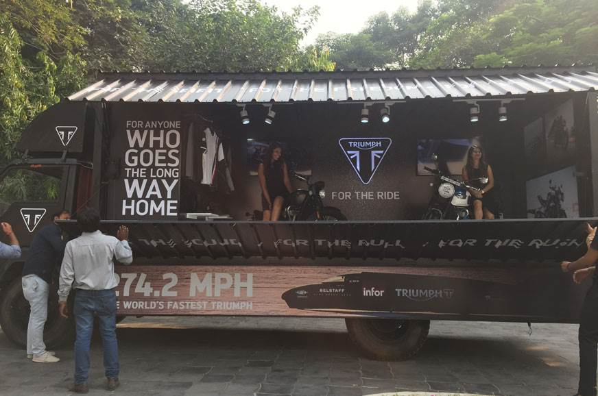 Triumph kicks off mobile showroom drive across India