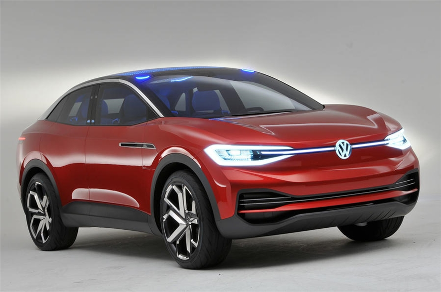 The VW ID Crozz concept displayed at the 2017 Frankfurt m...