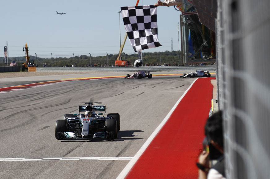 Mercedes clinch constructors' title at US GP with Hamilton win