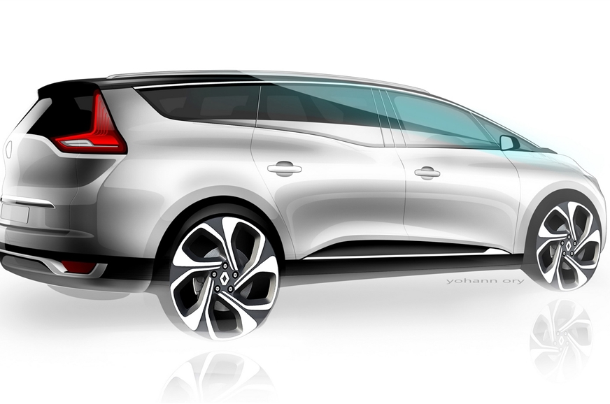 Renault MPV sketch. (Used for representation purpose).
